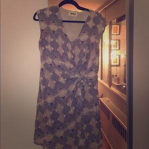Brooklyn Industries Geometric Print Silk Dress